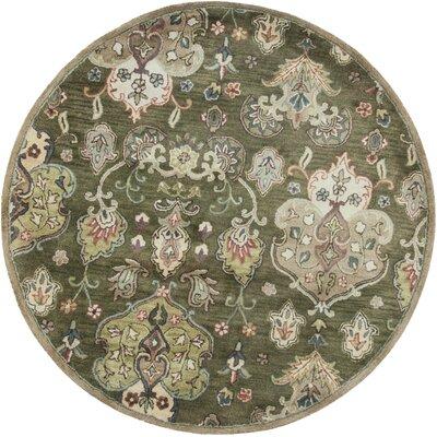 Blarwood Olive Tapestry Area Rug Rug Size: 5 x 8
