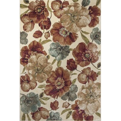 Bluff Canyon Ivory Gardenia Area Rug Rug Size: 53 x 77