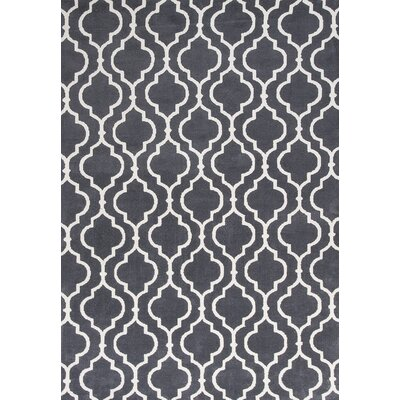 Blythewood Charcoal Fiore Area Rug Rug Size: 5 x 7