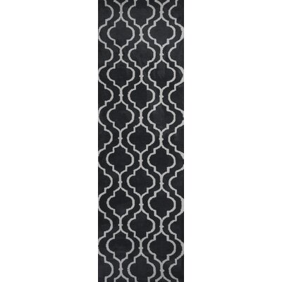 Blythewood Hand Woven Charcoal Area Rug Rug Size: Runner 23 x 76