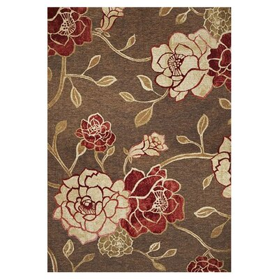 Freeport Mocha Flora Indoor/Outdoor Area Rug Rug Size: Rectangle 34 x 411