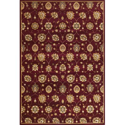 Bellville Red / Beige Area Rug Rug Size: Rectangle 77 x 1010