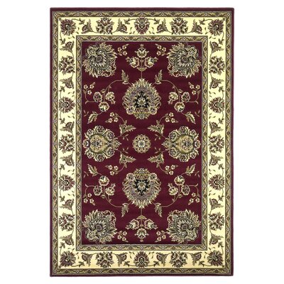 Bellville Red / Ivory Floral Area Rug Rug Size: Rectangle 23 x 33