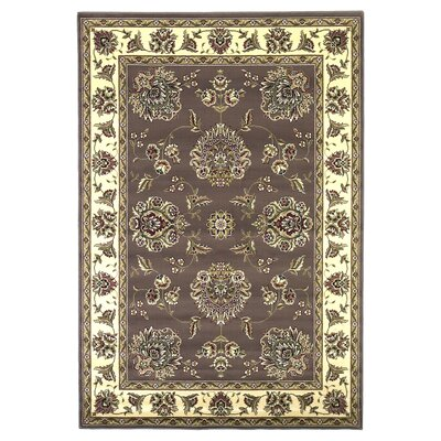 Bellville Plum / Ivory Floral Area Rug Rug Size: Rectangle 53 x 77