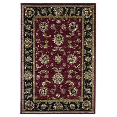 Bellville Red / Black Area Rug Rug Size: Round 7'7