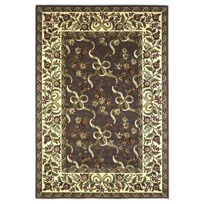 Bellville Plum / Ivory Floral Area Rug Rug Size: Rectangle 33 x 411