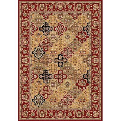 Bellville Red / Beige Floral Areal Rug Rug Size: Rectangle 910 x 132