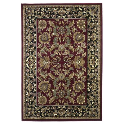 Bellville Red / Black Area Rug Rug Size: 53 x 77