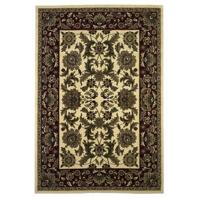 Bellville Ivory Area Rug Rug Size: Rectangle 910 x 132