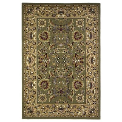 Bellville Green & Taupe Area Rug Rug Size: Rectangle 77 x 1010