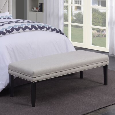 Ashbury Upholstered Bedroom Bench Color: Linen