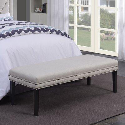 Ashbury Upholstered Bedroom Bench Color: Linen