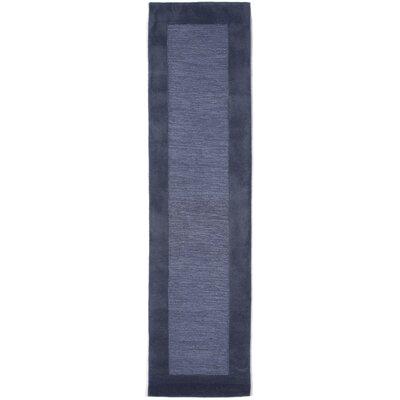 Dewsbury Blue Border Area Rug Rug Size: Runner 2 x 8