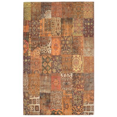 Astoria Panel Orange Area Rug Rug Size: 710 x 96