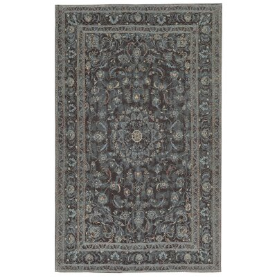 Astoria Nain Black/Blue Area Rug Rug Size: 2 x 3