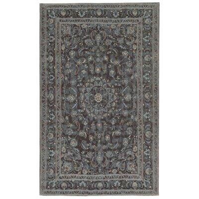 Astoria Nain Black/Blue Area Rug Rug Size: 18 x 26