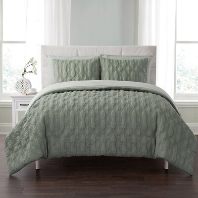 Niagara Embossed 5 Piece Bed in a Bag Set Color: Sage, Size: Full