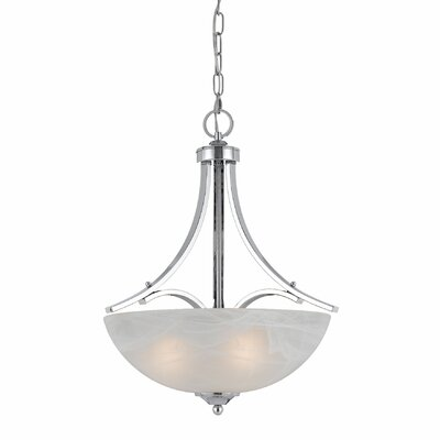 Crofoot 3-Light Metal Bowl Pendant Finish: Chrome Plated