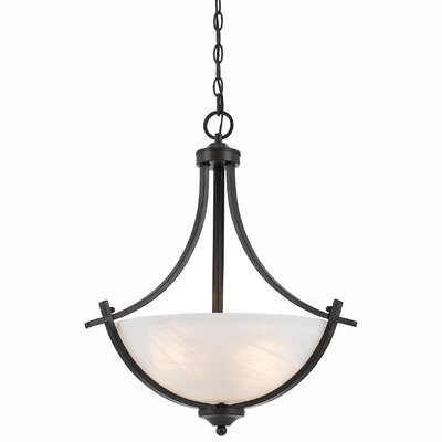 Crofoot Traditional 3-Light Bowl Pendant Finish: Bronze