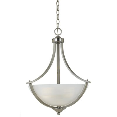 Klamath 3-Light Bowl Pendant Finish: Satin Nickel