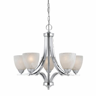 Klamath 5-Light Shaded Chandelier Finish: Chrome Plated