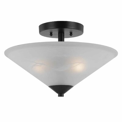 Crofoot 2-Light Metal Semi Flush Mount