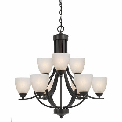 Finn Traditional 9-Light Shaded Chandelier