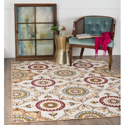 Dolan Beige/Cream Area Rug Rug Size: Rectangle 5 x 7