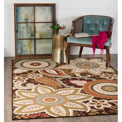 Dolan 3 Piece Brown Area Rug Set