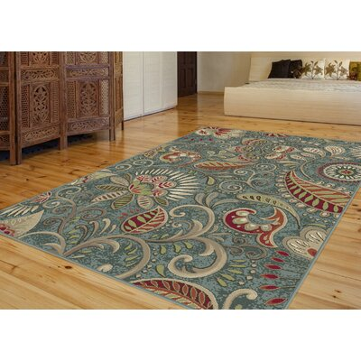 Concord Seafoam/Mocha Area Rug Rug Size: Rectangle 8 x 10