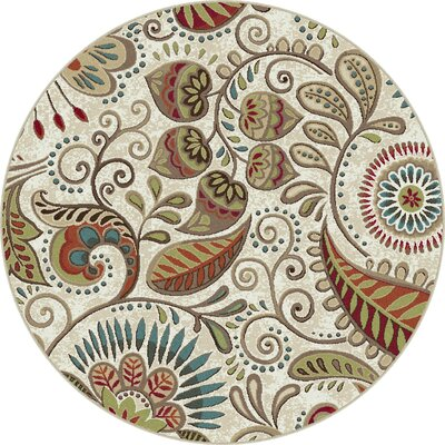 Concord Ivory Area Rug Rug Size: Round 6'