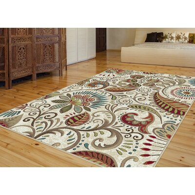 Concord Ivory Area Rug Rug Size: Rectangle 2' x 3'