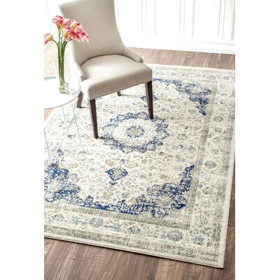 Hosking Doylestown Blue Area Rug Rug Size: Rectangle 3 x 5