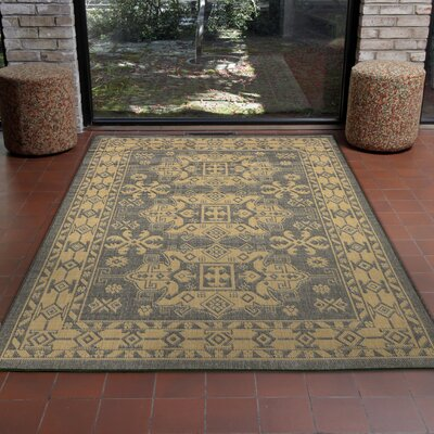 Brasstown Kilim Slate/Gray Indoor/Outdoor Area Rug Rug Size: 111 x 211