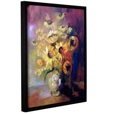 Sunflowers in Vase Framed Painting Print