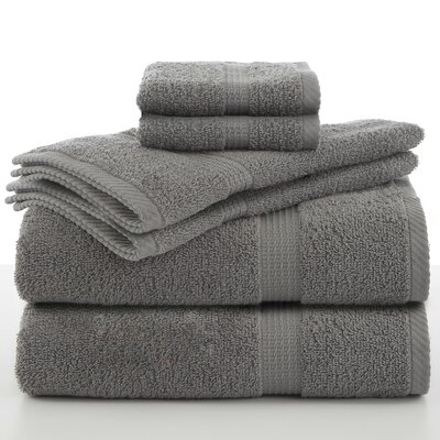 Elias 6 Piece Towel Set Color: Monument Gray
