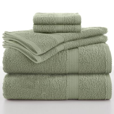 Elias 6 Piece Towel Set Color: Basil
