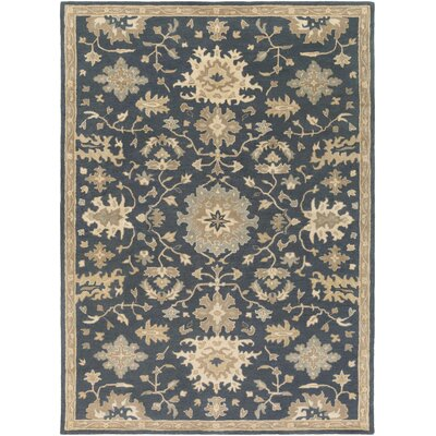 Willard Navy & Olive Area Rug Rug Size: Rectangle 8 x 11