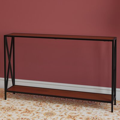 Abbottsmoor Metal Frame Console Table Finish: Natural