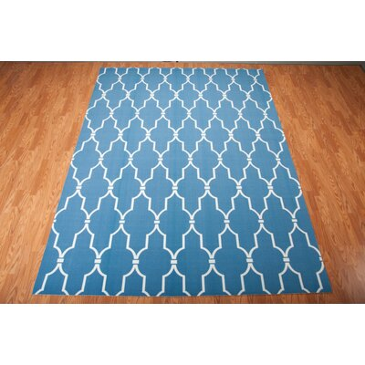 Wright Navy Indoor/Outdoor Area Rug Rug Size: Rectangle 53 x 75