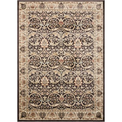 Tyrrell Brown/Beige Area Rug Rug Size: Rectangle 39 x 59