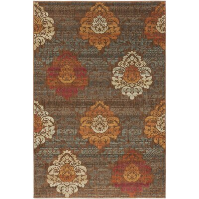 Boris Brown Area Rug Rug Size: Rectangle 53 x 73