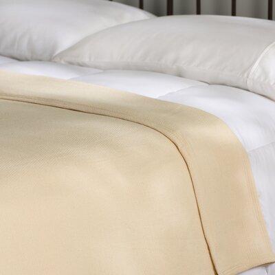 Featherston Fresh Spun Basketweave 100% Cotton Blanket Size: King, Color: Natural
