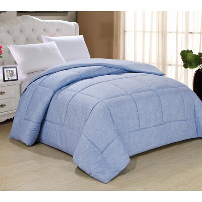 Frankton Down Alternative Ultra Plush Comforter Size: Queen, Color: Light Indigo