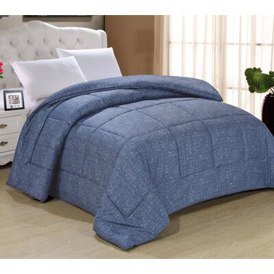 Frankton Down Alternative Ultra Plush Comforter Size: Twin, Color: Dark Indigo
