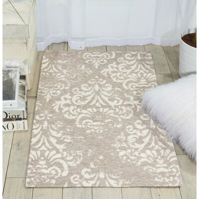 Portleven Taupe/Ivory Area Rug Rug Size: Rectangle 23 x 39