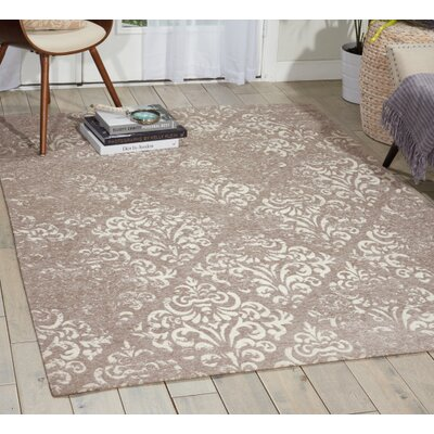 Portleven Taupe/Ivory Area Rug Rug Size: Rectangle 8 x 10