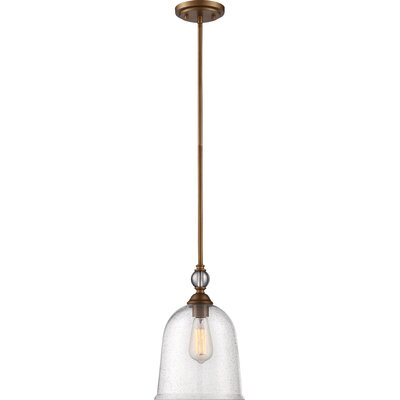 Marion 1-Light Mini Pendant Finish: Vintage Brass, Size: 9.38 H x 8.97 W  x 8.97 D