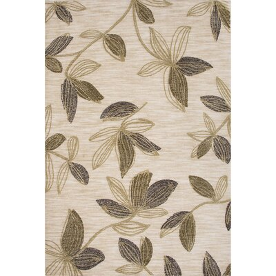 Michigan Hand-Tufted Beige/Green Area Rug Rug Size: 76 x 96