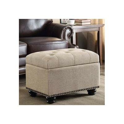 Bernadette Storage Ottoman Upholstery: Beige